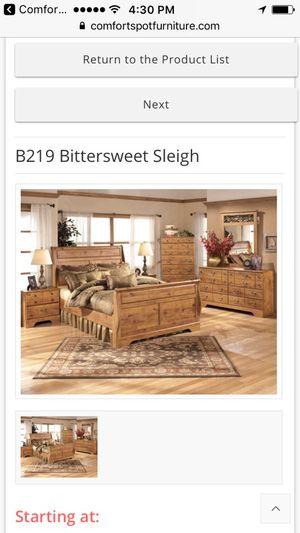 B219 bittersweet Sleigh Queen Set- español