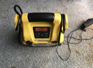 Car battery fast charger/outlets and electric pump
