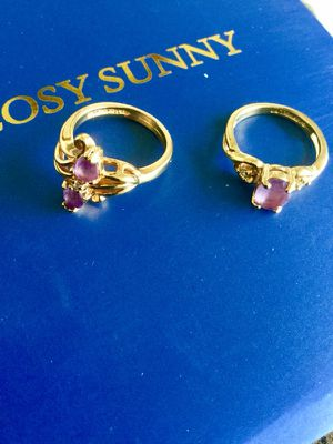 Love RINGS 💜 Amethyst gemstone rings / Ring size # 5