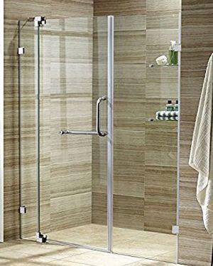 NEW Vigo frameless shower door for bathroom renovation