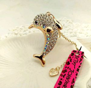 Betsey Johnson Lovely Dolphin Pendants chain Sweater chain necklace