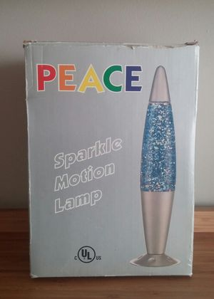 Peace Electric Glitter Motion Lamp