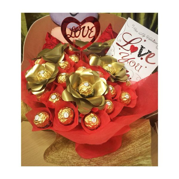 Chocolate flower bouquet (YOU CHOSE WHICH CHOCOLATE YOU WANT) (Arts ...