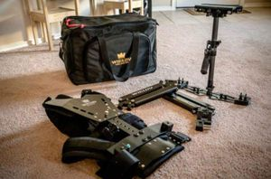 Wieldy steadicam, vest and arm kit.