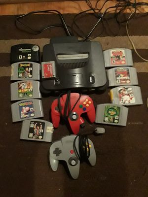 Nintendo 64 with accessories works great need gone today firm on price