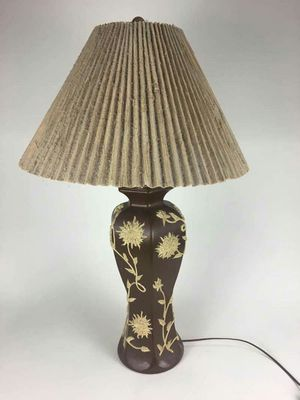 New and used lamp shades for sale offerup dark brown ceramic table lamp shade vintage 1014557 aloadofball Image collections