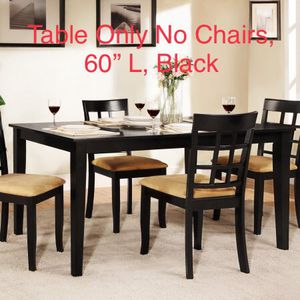 Brand New Weston Home Tibalt Black Dining Table 60 Inch