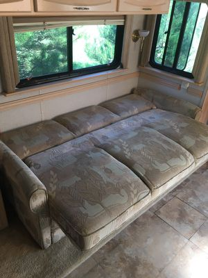 RV table and jack knife couch