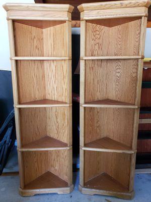 2 corner shelves