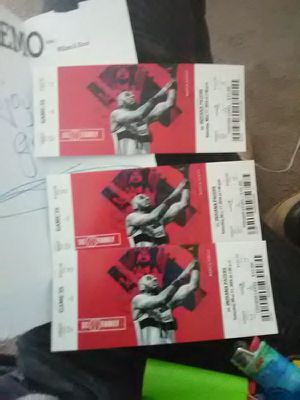 INDIANA PACERS VS WASHINGTON WIZARD ROW L, SEC 121 $165 dollar a piece plus $15 dollar meal plan=$ 540 obo