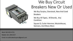 We buy circuit breakers