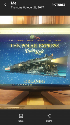 Polar Express train ride tickets