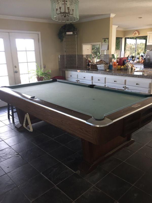 Brunswick Italian Slate Pool Table Sports Outdoors In Oceanside - Italian pool table