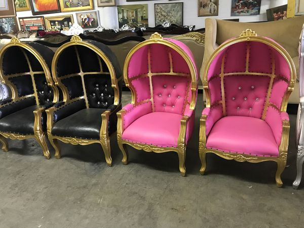 Beautiful baby hooded throne chairs.$1400 each. Best offer ...