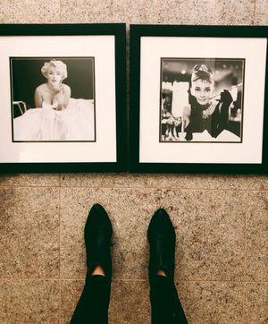 Marilyn Monroe & Audrey Hepburn framed pictures
