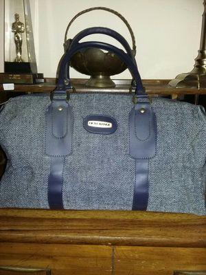 Fifth Avenue Vintage Tweed Blue Travel Bag