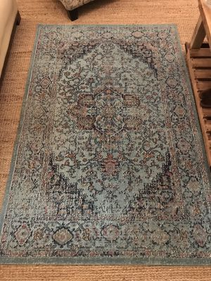 Teal Area Rug 4ft x 6ft