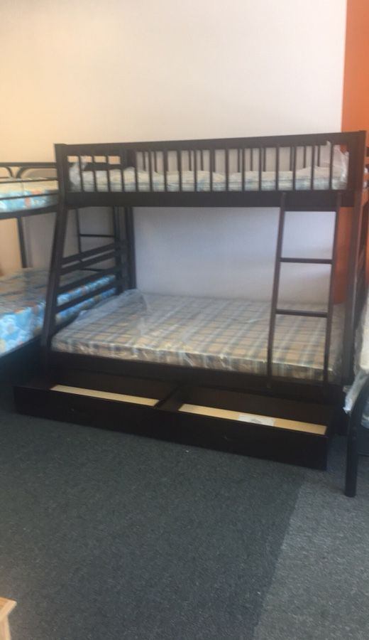 New In Box Full Twin Bunk Bed With Mattress Included 489