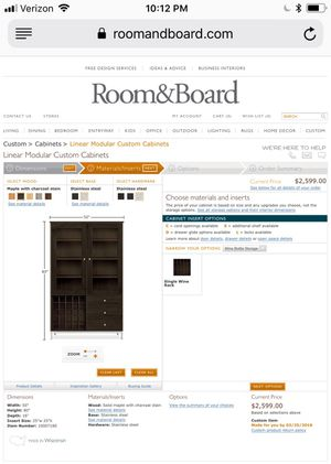 Room and Board Hutch, great condition, Orig ~$2900 w tax