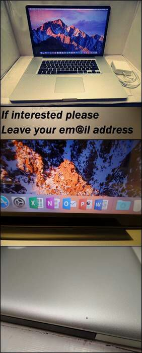 """Leαve me your emαil and I`ll contact you with all info and pics: MacBook Pro17""""2.4GHz i7 8GB 750GB"""