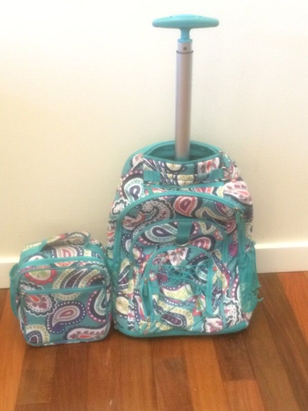 Pottery Barn Kids Teen Rolling Backpack Lunch Box Girls