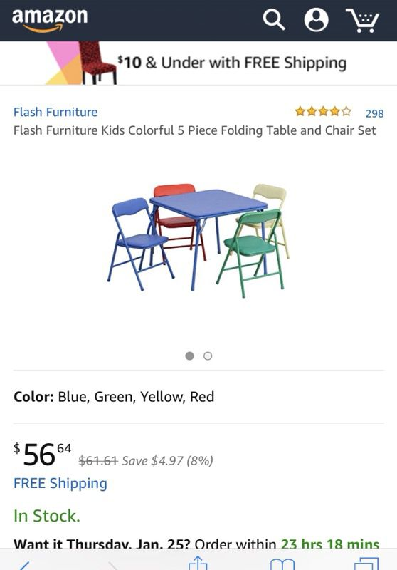 Kids Colorful 5piece folding table and chair set (Furniture) in ...