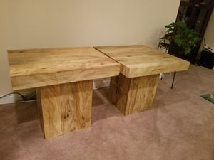 Wood Grain Side Tables