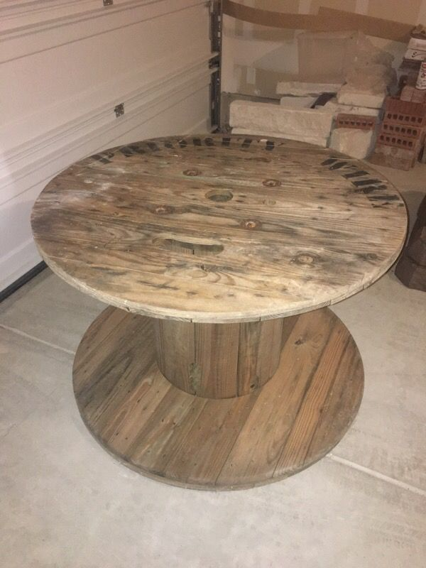 Large Wooden Spool Table Furniture In San Antonio Tx