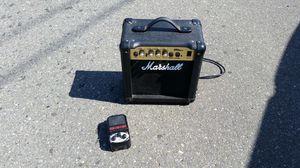 Mini Marshall amp w / distortion peddle