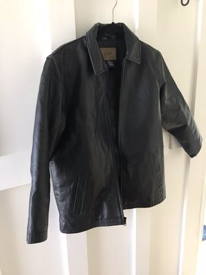 Kids black leather jacket size XL