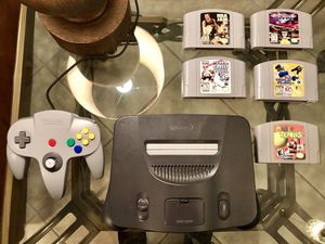 Classic Nintendo 64 + 5 Sports Games