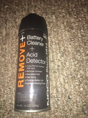 Remove Plus battery cleaner and acid detector