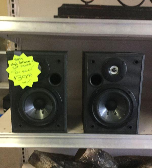 Sony High Performance Shelf Speakers