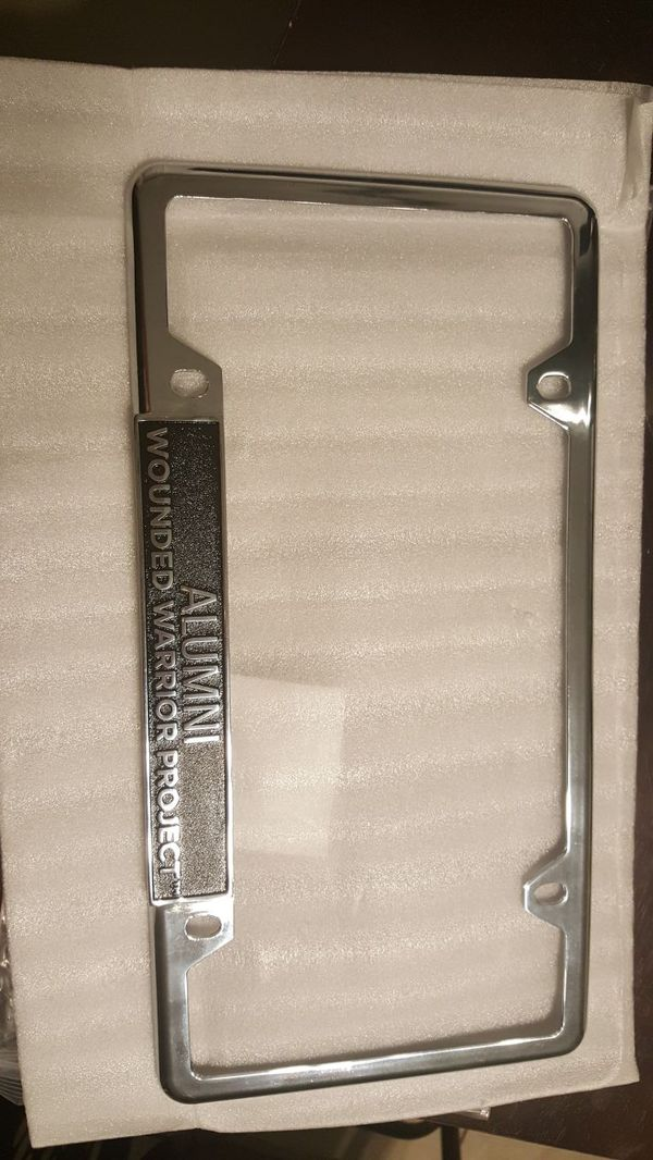 Alumni Wounded Warrior Project License Plate Frame (Auto Parts) in ...