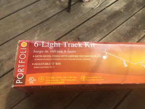 Portfolio 6-light track kit satin Nicole