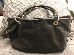 Tignanello 100% black leather purse