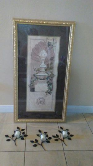 A frame with candles