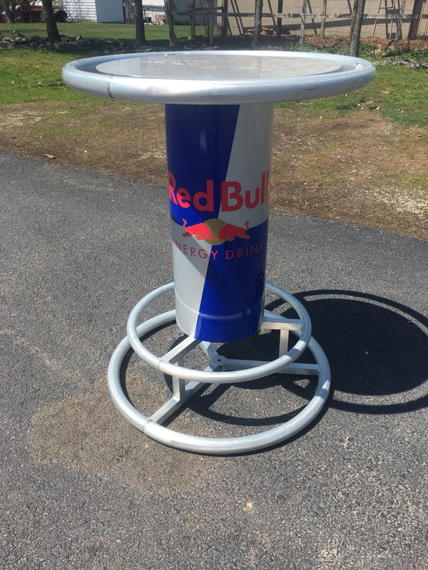 Red bull aluminum pub bar table furniture in wellsville pa offerup watchthetrailerfo