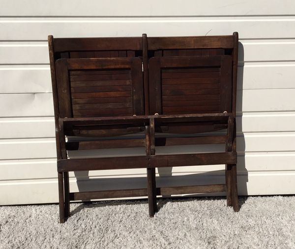 1900s benches antique heywood wakefield folding wood tandem benches furniture