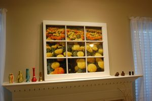 Custom window pane wall art