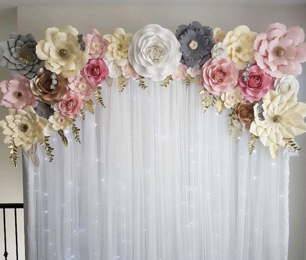 Paper flower arts crafts in santa clara ca for Ornamentacion para 15