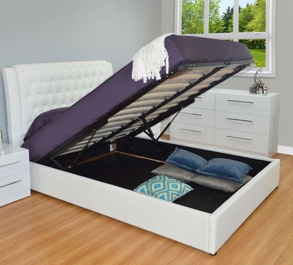 QUEEN STORAGE BED WHITE 🔥Super sale🔥