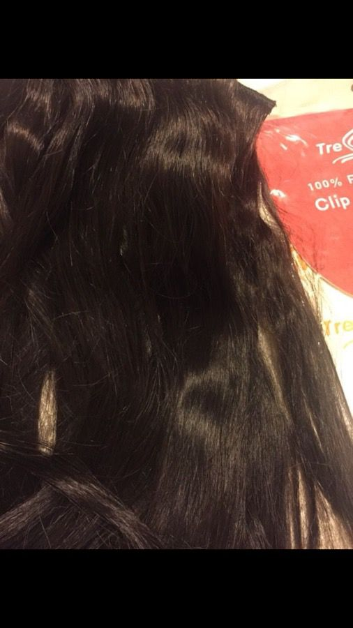 100 Remy Tress Match Clip In Hair Extensions Dark Brown Beauty