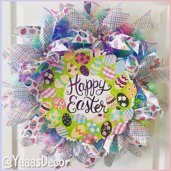 Spring discounted wreath bunny decoration easter decoration spring discounted wreath bunny decoration easter decoration flower decor graduation gift home wreath golden knights home garden in las vegas negle Images