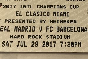 I have two tickets for the game Real Madrid vrs Barcelona