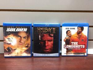 3 Blu Rays