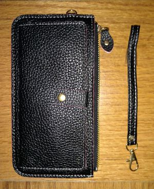 Black Wallet with Strap