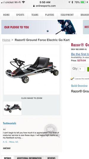 Razor Battery Go Cart