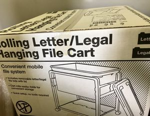 *new* Mobile rolling file cart