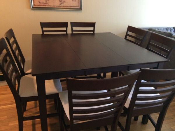 Bar height dining table and chairs furniture in